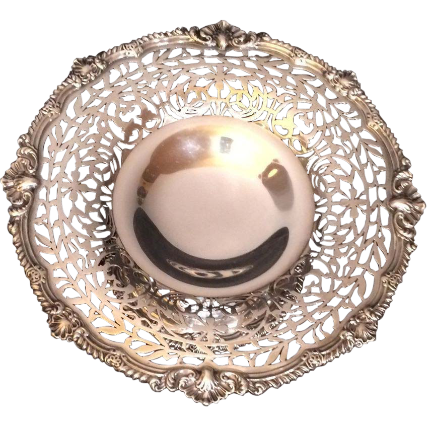 Sterling Reticulated Compote/Dominick & Haff 1906