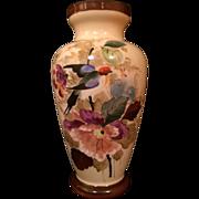 """Victorian Bristol Glass Vase 12 1/2"""""""