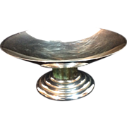 Jean E. Puiforcat Paris Art Deco Silverplated Tazza