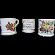 Miniature Porcelain Mug Toy Doll House Sample Size Flowers Souvenir Bingley x 3 Coalport