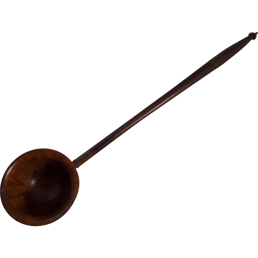 Scottish Treen Coquilla Nut Toddy Ladle