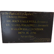 Victorian Steel Deed Box Hallewell Deceased