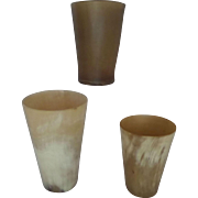 Horn Beakers Nineteenth Century group of 3 Set B