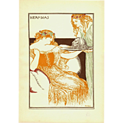 On HOLD Robert Anning Bell 'Herodias' Original  Chromo Lithograph Print 1896 - Red Tag Sale Item
