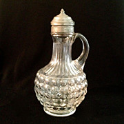 Early American EAPG Pressed Glass Syrup Pitcher