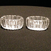 Pair of Cut Glass Salts