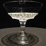 Early Cut Glass Compote