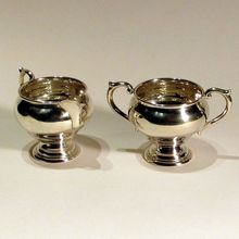Sterling Sugar and Creamer by Newport #16321 Sterling Silver Creamer and Sugar