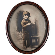 Sepia Photo Portrait of a Little Boy