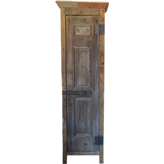 Tall Primitive Wood Cabinet