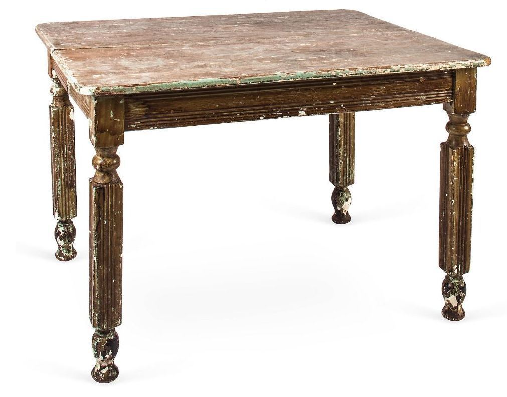 Vintage Rustic Farm Dining Table from paulcorrieinteriorshome on Ruby Lane