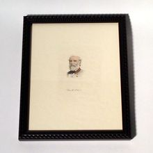 Print of a Robert E Lee Painting Framed & Matted