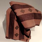 Vintage Warm Wool Striped Blanket