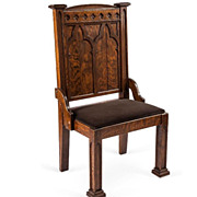 c1900 Arm  Chair from a Church Pew in Harrisburg, PA.