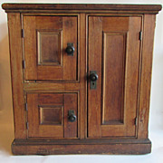Antique Pine Three Door Ice Chest or Ice Box
