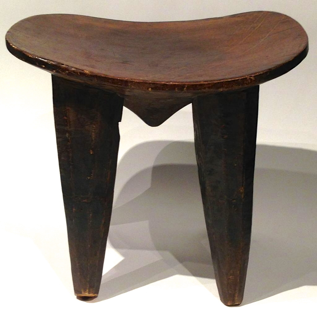 Vintage Mango Wood Stool from Africa