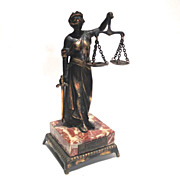 Statue of Themis Scales of Justice - Red Tag Sale Item