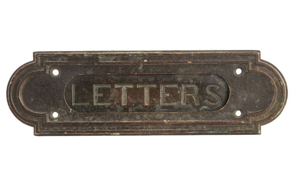 Patinated Bronze Mail Slot Sold On Ruby Lane