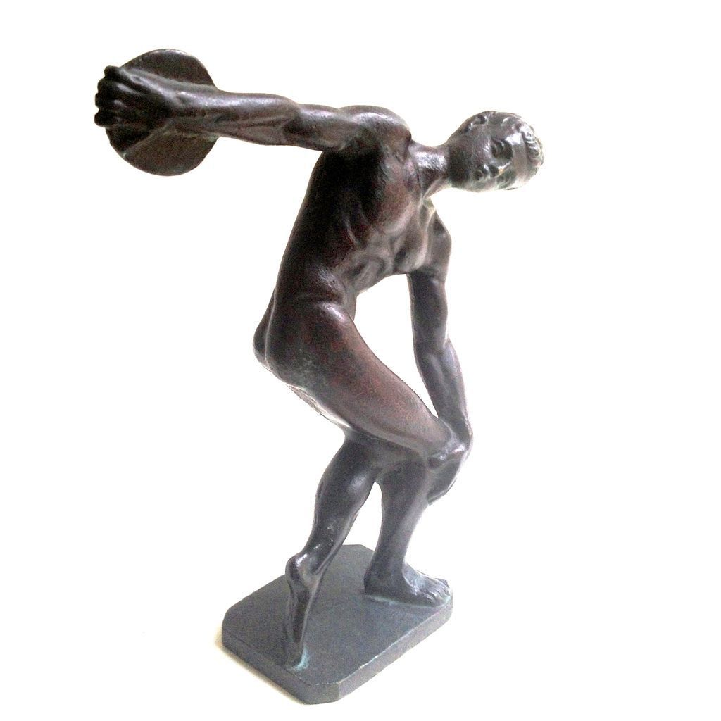 Statue of a Discus Thrower in Bronze