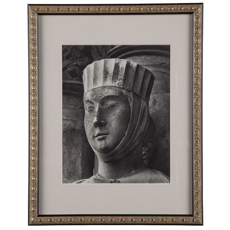 Documented Print of 1937 Photogravure of Bathsheba Chartres Cathedal France II