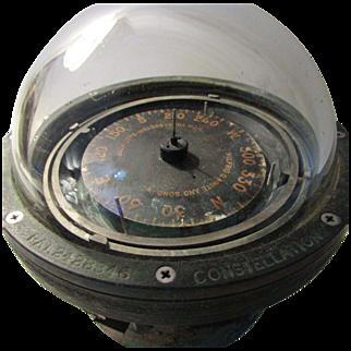 Vintage Nautical Ship Constellation Compass