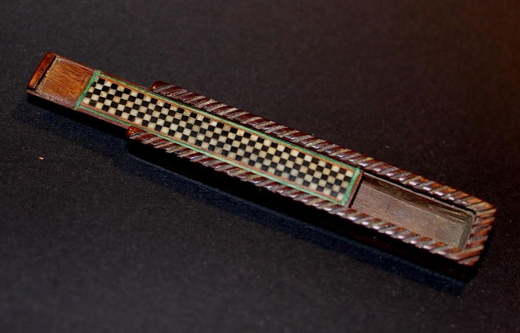 Rare Miniature Wooden Game Box
