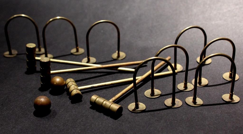 A Miniature Croquet Set