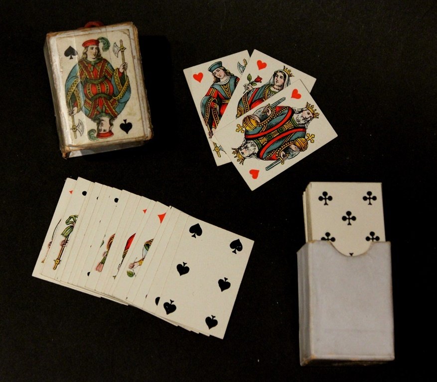 Antique Miniature Playing Cards for your Bebe or French Fashion Doll