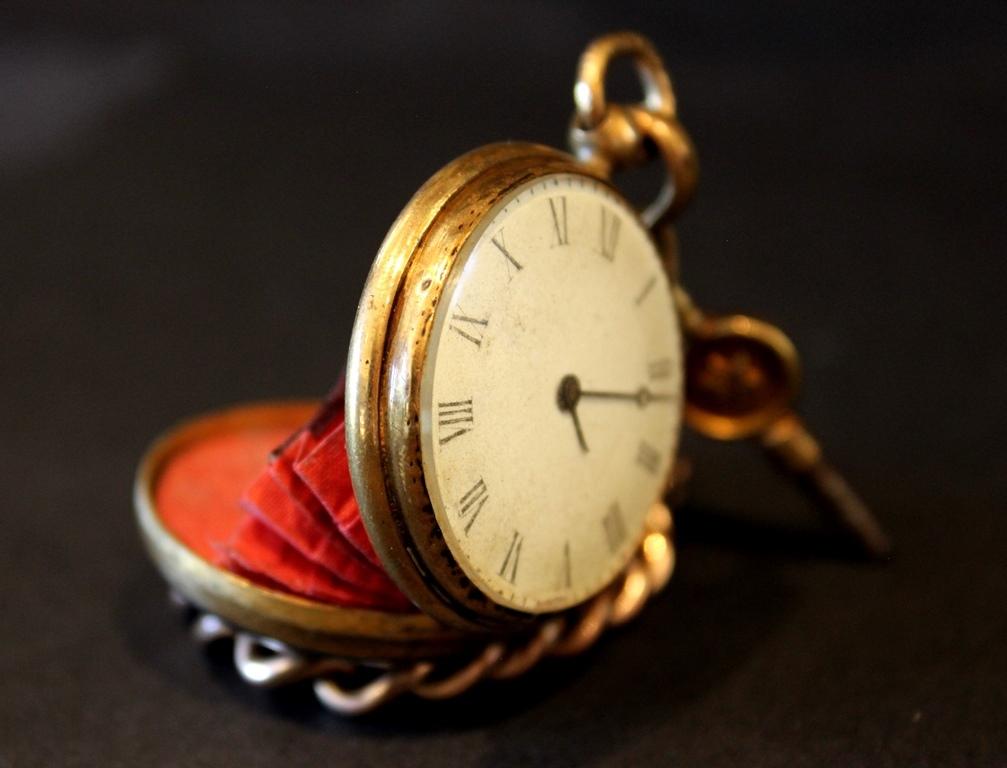 A Rare French Antique Miniature Pocket Watch Purse