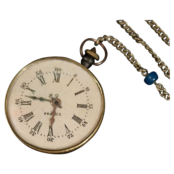 Unusual French Equestrian Faux Fob Watch
