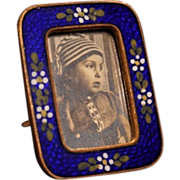 Tiny Antique Enamel Frame
