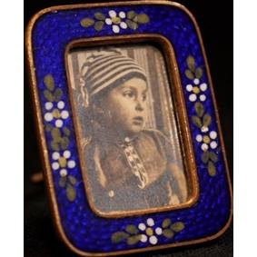 Tiny Antique Enamel Frame