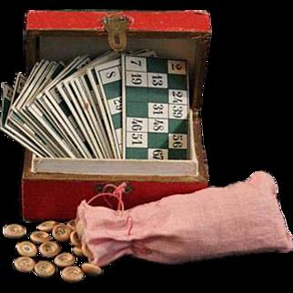 Antique Miniature French Loto Lotto Game in Original Box