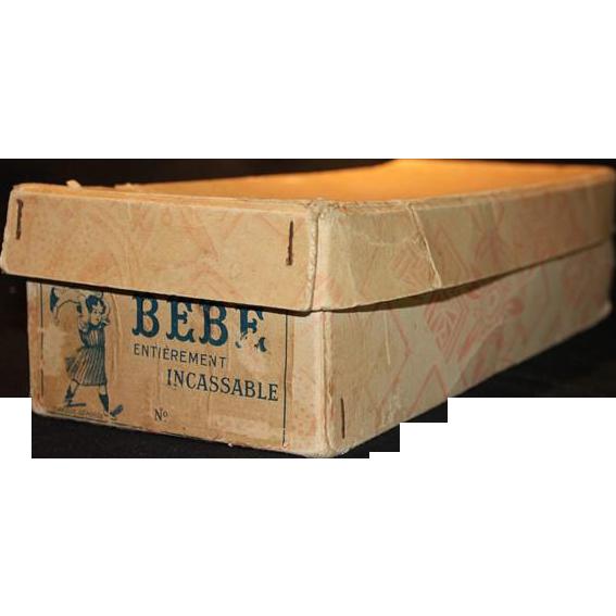 "Original ' Bebe Entierement Incassable"" Doll Box"