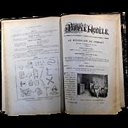 Original 1904 - 1905 La Poupee Modele Hardcover Book