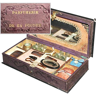 A Rare Antique ' Parfumerie De Ma Poupee ' Presentation Box