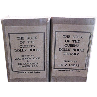 Rare Limited Edition 37/1500 Volume I & II Books; ' The Book of the Queen's Dolls House ' (…and Library) 1924