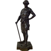 Large 19th century French bronze by Emile Louis  Picault