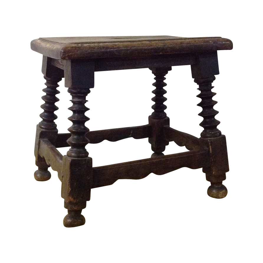 17th century American or French stool