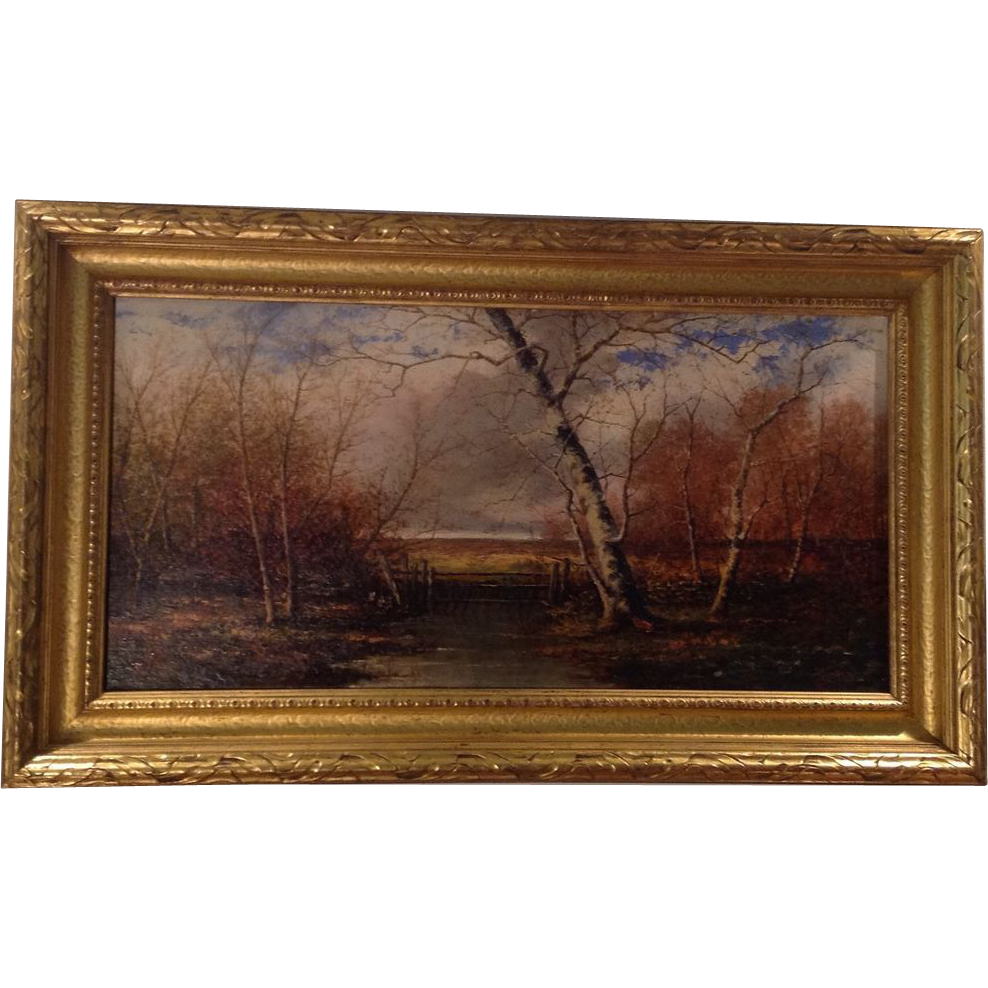 19th cent. American oil painting by James David Smillie(1833-1909)