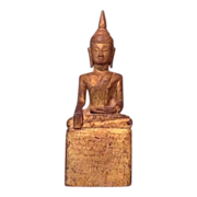 19th century gilted and painted Thai Buddha