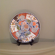 Large 19th century Japanese Imari porcelain charger