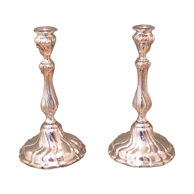 early 20th cent. sterling silver candlesticks by W.T.Binder