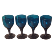 Set of 4 British blown stemware c.1820