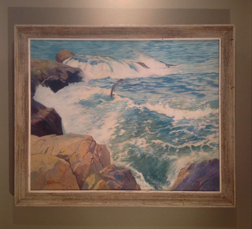 American Mid 20th cent. Oil painting by Ralph Hillbom(1894-1977)