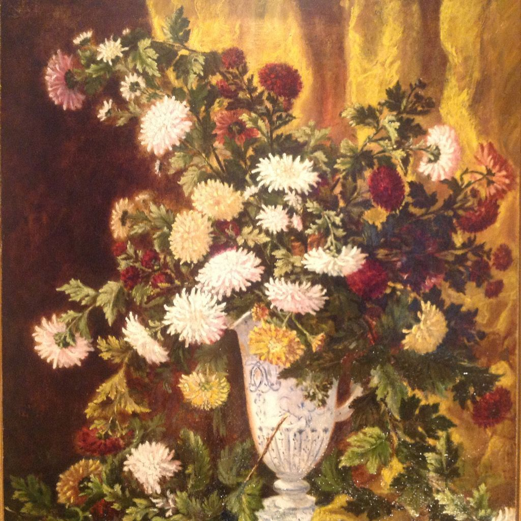 19th Cent Signed And Dated French Floral Still Life Oil Painting From Edwinskinner On Ruby Lane