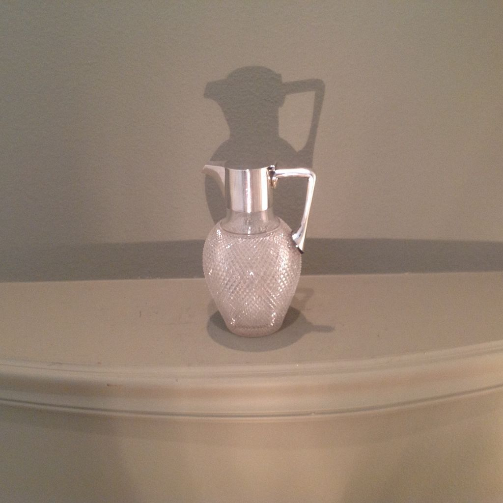 19thcent. British sterling and cut glass claret jug
