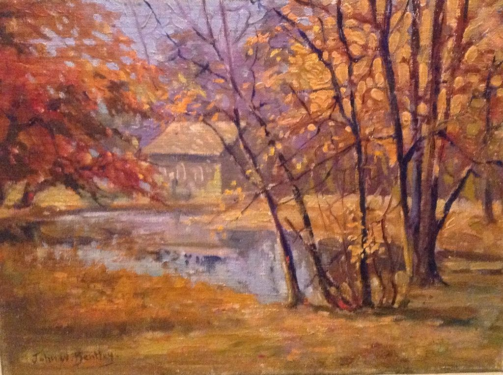 Early 20th cent. American oil painting by John W. Bentley