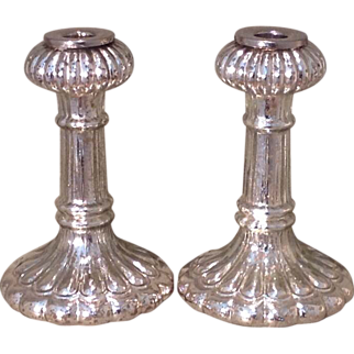 Pr. of c. 1930 American glass candlesticks