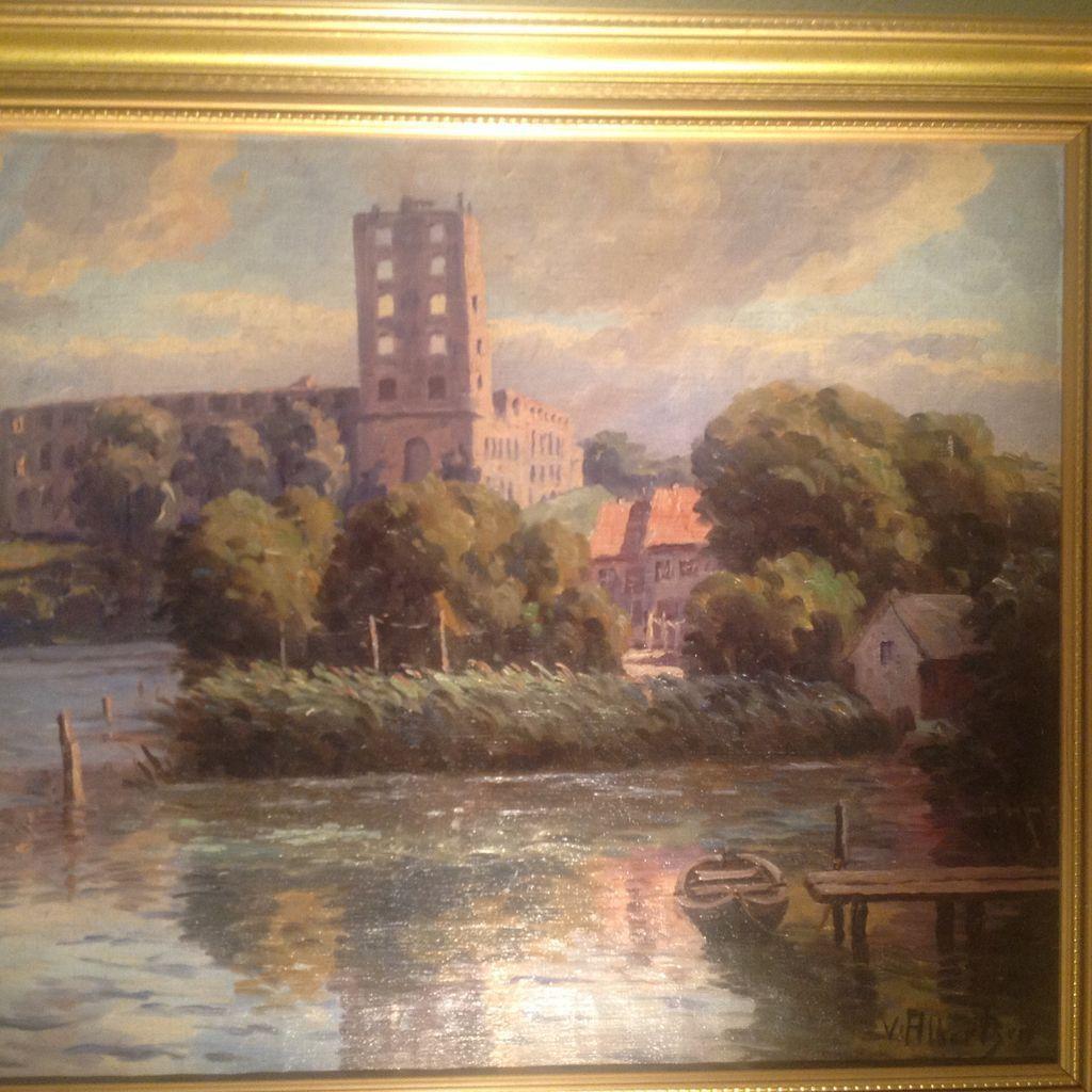 Early 20th oil by Valdemar Albertsen(Danish 1900-1950)